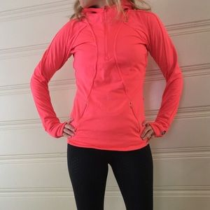 Neon Pink Gapfit pullover-  lightly fleece lined